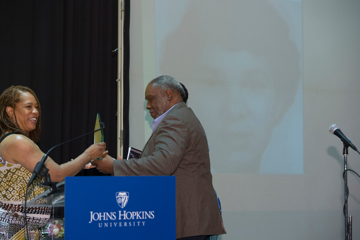 Juneteenth 2014 celebration accepting award
